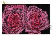 Pink Roses With Dark And Rough Chrome  Effects Carry-all Pouch