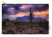 Pink Skies At The Superstitions Carry-all Pouch