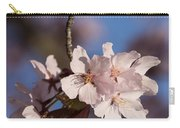 Pink Spring - Sunlit Blossoms And Blue Sky - Vertical Carry-all Pouch