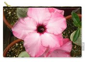 Pink Succulent Flower Carry-all Pouch