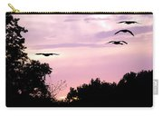 Pink Sunrise Geese Silhouette Carry-all Pouch