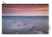 Pink Sunset At The Mediterraneas Sea Carry-all Pouch