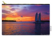 Pink Sunset In Key West Florida Carry-all Pouch by Susanne Van Hulst