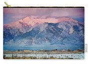 Pink Sunset On Taos Mountain Carry-all Pouch