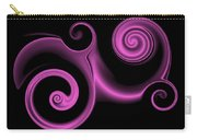 Pink Swirl On Black Carry-all Pouch