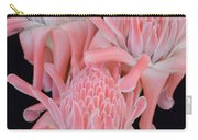 Pink Torch Ginger Trio On Black - No 2 Carry-all Pouch
