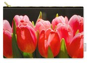 Pink Tulips In A Row Carry-all Pouch