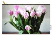 Pink Tulips In A Vase Carry-all Pouch