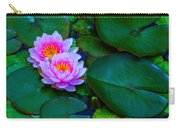 Pink Water Lilies - Lotus Carry-all Pouch