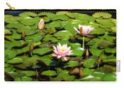 Pink Water Lilies Soft Focus Carry-all Pouch