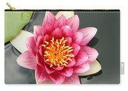 Pink Waterlily And Cloud Reflection Carry-all Pouch