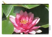 Pink Waterlily Carry-all Pouch