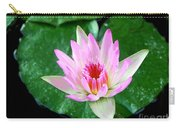 Pink Waterlily Flower Carry-all Pouch