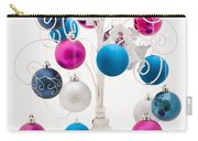 Pink White And Blue Christmas Carry-all Pouch
