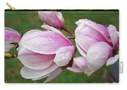 Pink White Wet Raindrops Magnolia Flowers Carry-all Pouch