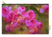 Pink Winter Roses Three Carry-all Pouch