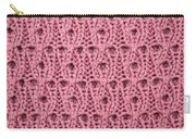 Pink Wool Carry-all Pouch
