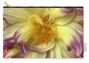 Pink Yellow Dahlia Carry-all Pouch