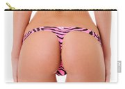 Pink Zebra Thong Carry-all Pouch