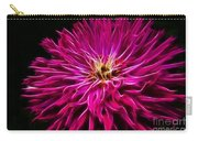 Pink Zinnia Digital Wave Carry-all Pouch
