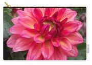 Pink Zinnia Flower Carry-all Pouch