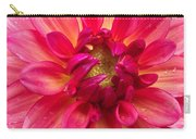 Pink Zinnia Flower Upclose Carry-all Pouch