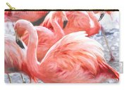 Pinked Flamingos Carry-all Pouch