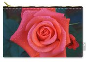 Pinkie Peach Rose Carry-all Pouch