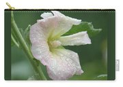 Pinkish Hollyhock And Rain Carry-all Pouch