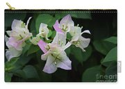 Pinky White Bougainvillea Carry-all Pouch
