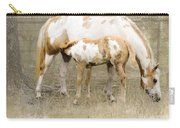 Pinto Mare And Filly Carry-all Pouch