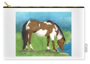 Pinto Mustang Horse Mare Farm Ranch Animal Art Carry-all Pouch
