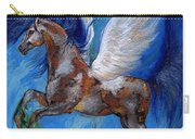 Pinto Pegasus With Blue Mane Carry-all Pouch