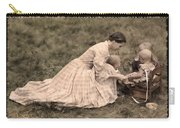 Pioneer Mother And Children Carry-all Pouch