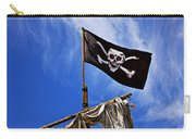 Pirate Flag On Ships Mast Carry-all Pouch