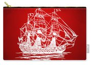 Pirate Ship Artwork - Red Carry-all Pouch by Nikki Marie Smith