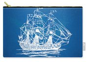 Pirate Ship Blueprint Artwork Carry-all Pouch by Nikki Marie Smith