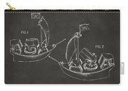 Pirate Ship Patent Artwork - Gray Carry-all Pouch by Nikki Marie Smith