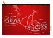 Pirate Ship Patent Artwork - Red Carry-all Pouch by Nikki Marie Smith
