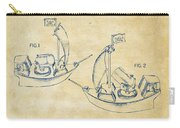 Pirate Ship Patent Artwork - Vintage Carry-all Pouch by Nikki Marie Smith