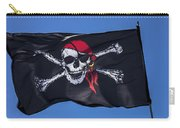 Pirate Skull Flag With Red Scarf Carry-all Pouch