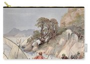 Pirates From The Barbary Coast Capturin Gslaves On The Mediterranean Coast Carry-all Pouch by Albert Robida