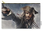 Pirates Of The Caribbean Johnny Depp Artwork 2 Carry-all Pouch