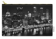 Pittsburgh Black And White Night Carry-all Pouch