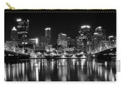Pittsburgh Black And White Panorama Carry-all Pouch
