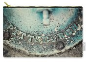 Pittsburgh In Teal Relief On A Vintage Water Pump Carry-all Pouch