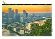 Pittsburgh Orange Skyline Carry-all Pouch