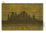 Pittsburgh Pennsylvania City Skyline Silhouette Distressed On Worn Peeling Wood No Name Version Carry-all Pouch