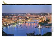 Pittsburgh Pennsylvania Skyline At Dusk Sunset Extra Wide Panorama Carry-all Pouch