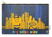 Pittsburgh Skyline License Plate Art Carry-all Pouch by Design Turnpike